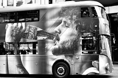 London Bus : It's The Real Thing.... (markwilkins64) Tags: london gardenhotel kensington londonbus coke cocacola advertising markwilkins blackandwhite bw mono monochrome