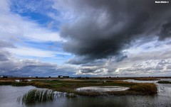 Lagoon panorama (Mauro Hilário) Tags: landscape waterscape portugal ribatejo lagoon lake beautiful elements nature sky clouds wideangle wide scenery