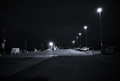 untitled (ChrisRSouthland (mostly off, traveling & working)) Tags: darwin griii ricohgriii night nightphotography pier australia blackandwhite monochrome bw grain grainy lines silverefex