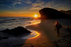 Sunset in Mónsul. (ZAPIGATA) Tags: sunset mónsul cabodegata beach sand sea seascape almeria andalucia arena atardecer sky spain españa europe zapigata