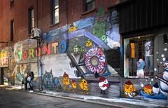 Toronto's Graffiti Alley: (Bernard Spragg) Tags: torontosgraffitialley art walls murals graffiti lumix street cityscape