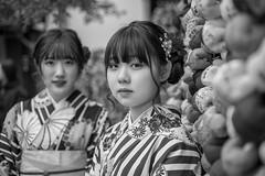 Kyoto Street Portrait (Andrew Allan Jpn) Tags: japan japanesegirl kyoto street streetportrait streetfashion streetphotography streetstyle canon50mm18 eyecontact eyes look lookingback happyplanet asiafavorites