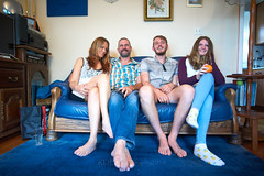 2019 Christmas 35 (ArdieBeaPhotography) Tags: family brother son sister daughter wife mother husband father together celebrate sitting couch blue rug sigma1735mm leather wood lounge