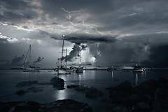 Porticciolo (Va e VIENI) Tags: art ambrosioni zzmanipulation porto barche sera blu tempesta cielo mare natura