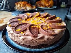 Homemade Terry's double chocolate orange cheesecake (tubblesnap) Tags: terrys double chocolate orange cheesecake nomnom delicious food snapseed motorola dessert pudding