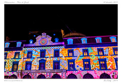 Son et lumières (BerColly) Tags: france auvergne puydedôme clermontferrand placedejaude illuminations projection lumières lights nuit night bercolly google flickr