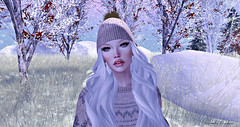 ❤ (cometa shadow blog) Tags: glamaffair navycopper catwa maitreya blog mesh bento winter snow fashion style white beanie
