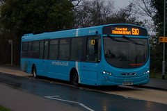 Boxing Blue: Arriva Harlow Volvo B7RLE Wright Eclipse 2 BG59FWP (3889) Church Road Stansted Mountfitchet 26/12/19 (TheStanstedTrainspotter) Tags: arriva arrivakentthameside bus buses stansted stanstedmountfitchet public transport publictransport bishopsstortford harlow networkharlow volvo b7rle volvob7rle wrightbus eclipse urban wrighteclipse wrighteclipseurban bg59fwp 3889 508 509 510 stanstedairport loan transfer borrowed demo churchroad