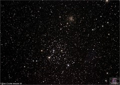 Messier 35 and NGC 2158 in Gemini (The Dark Side Observatory) Tags: tomwildoner night sky deepsky space outerspace skywatcher telescope 120ed celestron cgemdx asi290mc zwo astronomy astronomer science asi071mc deepspace weatherly pennsylvania observatory tdsobservatory earthskyscience m35 gemini ngc2158 opencluster