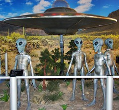 Your friends have arrived! (Steve4343) Tags: travlinman43 alien museum roswell new mexico nm space ship grey greys flying saucer international ufo and research center