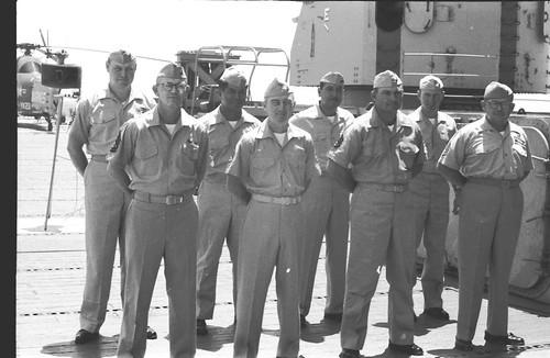 HMM-364 Staff Sergeants Formation, USS Valley Forge, circa 1964
