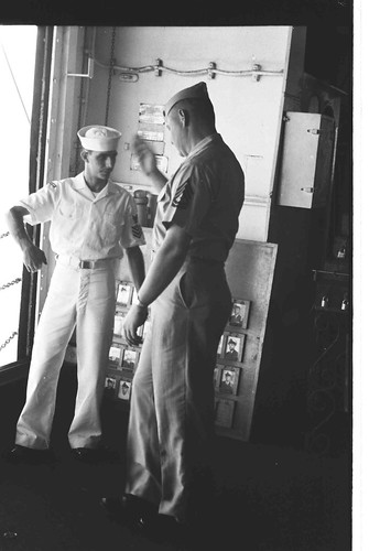 GSgt Gene T. Elliott Leaves Ship, circa 1964