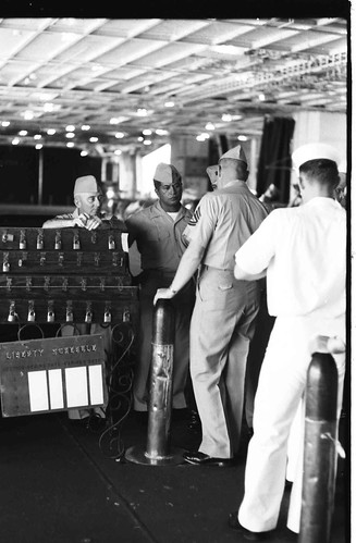 Leaving Ship, USS Valley Forge, circa 1964