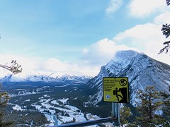 Getaway miscellany - Tunnel Mountain, near the summit (benlarhome) Tags: canada banff canmore lakelouise