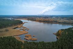 . (jkatanowski) Tags: industry industrial powerstation power clouds factory cloudsfactory drone landscape sky europe poland powerplant water