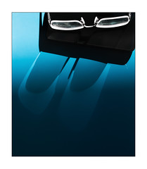 dirty glasses (Armin Fuchs) Tags: arminfuchs glasses niftyfifty blue shadows desk handy cellphone reflection 6x7