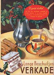 Dubbel genieten (Tim Boric) Tags: advertentie advertisement verkade langebeschuitjes beschuitjes langetjes 1936