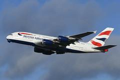 G-XLED Airbus A380-841 EGLL 13-12-19 (MarkP51) Tags: gxled airbus a380841 a380 britishairways ba baw london heathrow airport lhr egll england airliner aircraft airplane plane image markp51 nikon d500 nikonafp70300fx sunshine sunny