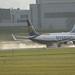 Ryanair touch down on wet runway HAM