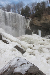 Bruce Trail ~  Webster's Falls ~ Spencer Gorge ~ Winter  Scene (Onasill ~ Bill Badzo - New Format) Tags: bruce trail niagara escarpment hamilton on ontario canada hikingtrail webster's falls spencer gorge waterfalls conservation area creek heritage hart fisher flamborough onasill attraction footbridge cobblestone winter scene frozen ice waterfall water landscape outdoor serene rainbow