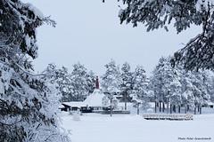 Laponia tipi! (petergranström) Tags: approved laponia tipi lake sjö house hus trees träd snow snö bridge brygga