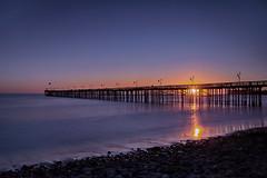 Ventura Pier (lfeng1014) Tags: venturapier pier ventura california structure sunset pacificocean ocean waves landscape canon5dmarkiii ef2470mmf28liiusm longexposure 13seconds usa light sunrays travel lifeng