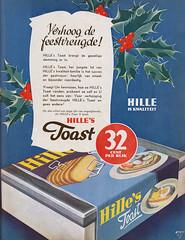 Verhoog de feestvreugde! (Tim Boric) Tags: advertentie advertisement ad hille toast 1936
