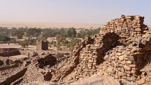 Mauritanie 2019 - Ruines partiellement restaurées du ksour de Ouadane