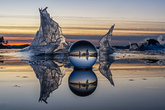 IMGP9937-Edit-Edit (jarle.kvam) Tags: austagdercountymunicipality norway tromøy glass ice crystalball frozen sea raetnationalpark reflction speiling