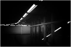 Down under (frankdorgathen) Tags: alpha6000 sony18200mm monochrome blackandwhite schwarzweiss schwarzweis minimalismus minimalistic minimalism ruhrgebiet ruhrpott rüttenscheid essen fair messeessen messeost ubahn underground metro subway
