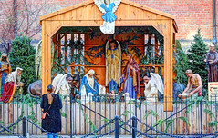 creche (albyn.davis) Tags: creche christmas jesus nativity scene statues nyc newyorkcity soho holidays winter street urban city religious
