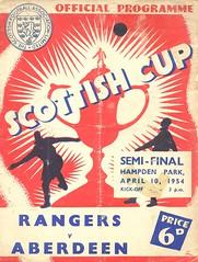 Rangers v Aberdeen 19540410 (tcbuzz) Tags: sfa scottish cup semi final hampden park glasgow scotland rangers aberdeen football club programme