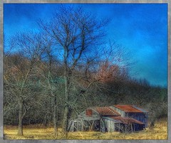 Just barely.... (Sherrianne100) Tags: rural collapsing dilapidated barn ozarks missouri
