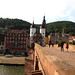View from Alte Brücke Heidelberg on Brückentor