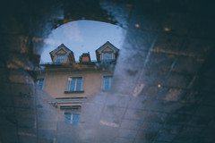 Urban reflections (freyavev) Tags: reflections urban urbandetails reflection building architecture puddle rain raining canon canon700d 35mm mikasniftyfifty ljubljana slovenia slovenija feelslovenia oldtown moody vsco