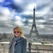 Paris France - My Younger Daughter Barbara  - Eiffel Tower