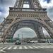 Paris France  -  Eiffel Tower - Parisian Landmark - Exposition of 1889