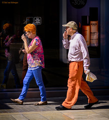 Be what you want (Bart van Hofwegen) Tags: orange clothes clothing people street streetphotography city citystreet citylife color colour colorful colourful urban life urbanlife urbanphotography eccentric