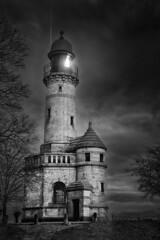 Leuchtturm Holtenau (ChristianMandel) Tags: leuchtturmholtenau lighthouse blackandwhite bw monochrome balticsea ostsee kiel sonya7iii sonnartfe55mmf18za