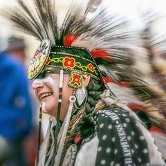 Portrait @ a Pow Wow, Vancouver (gks18) Tags: cultural people powwow indigenous canon regalia dancer celebration