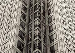 Building Abstract #121 - explored (Joseph Pearson Images) Tags: building architecture abstract london 1canadasquare blackandwhite bw mono césarpelliassociates