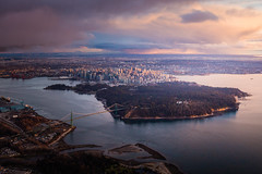 Vancouver Skyline Aerial Sunset (tobyharriman) Tags: 2017 britishcolumbia adventure aerial art artist bay bc canada canon city cityscape commercial custom falsecreek fineart harbour helicopter landscape outdoor photographer photography photos pictures prints skyhelicopters skyline sunset vancouver