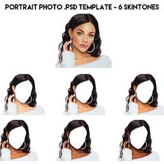 Profile photo .PSD Template - 6 skintones (sirengraph.sl) Tags: secondlifeavatar slavatar slfashion slphoto secondlife sl slhairstyle psd psdtemplate