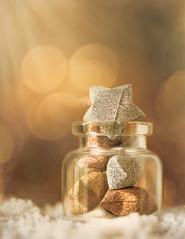 Shine like the stars (Ro Cafe) Tags: stilllife macro littlebottle origami paper stars bokeh golden light textured nikkor105mmf28 sonya7iii