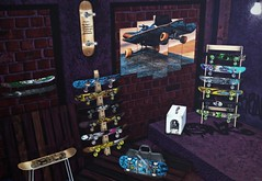 Skate Spot... (ThiegoFire) Tags: codex rezzroom decor cute skate skateboard lights secondlife mom art exclusive