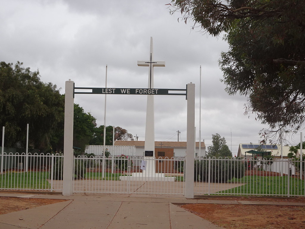 Menindee on the River Darling. Outback NSW. The War Memorial.