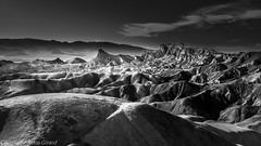 Zabriskie Point, Death Valley, California (Agirard) Tags: ansel adams bw nb blackwhite noirblanc monochrome deathvalley death valley california park national zabriskie point rock geology desert