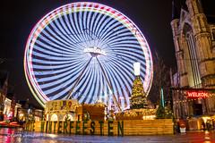 Wheel of fortune @ Ghent (Fabke.be) Tags: ghent gent gwf winterfeesten christmas xmas kerstmis reuzerad rad wheel roue nightshooting nightshot longexposure canon camera