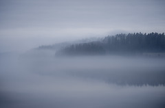 DSC000822 (Samuli Koukku) Tags: landscape artjärvi mist lake finland pyhäjärvi nature naturephotography silhouette 2019