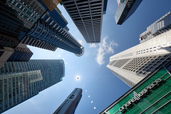 2019 Singapore Annular Solar Eclipse - Raffles Place (Scintt) Tags: singapore marina star sun sky clouds moon bay dramatic travel tourist attraction exploration movement skyline cityscape city urban modern structures architecture buildings offices cbd scintillation scintt jonchiangphotography iconic surreal epic wideangle glow light tones hotel office towers skyscrapers rafflesplace wide night evening financial business centralbusinessdistrict fun celebration trails reflections composite blended shentonway art 1224mm sigma annular solareclipse astro rare multipleexposures tall afternoon midday blue starburst astronomy astrophotography